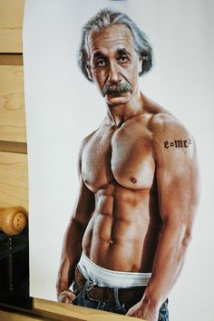 Albert Einstein e=mc2 tattoo hilarious only if there were photo shop back then