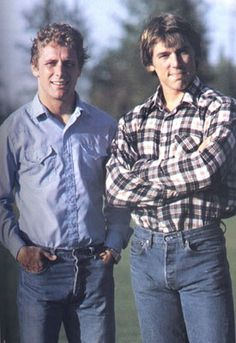 Steve Largent and Jim Zorn. The young guns of the Old Seattle Seahawks.