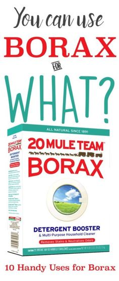 Did you know that borax is more than just a detergent booster? It actually can be used in many applications! Since it's natural and chemical-free, it's the perfect ingredient for many nontoxic cleaners!...