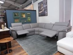 Natuzzi Editions Sensor 5 Piece Modular corner sofa with power recliner on each end. Another incredible bargain from the official Natuzzi UK clearance outlet. Beautiful Italian designer right/left hand corner sofa which matches comfort with style. Modular Corner Sofa, Power Recliners, Couch, Leather, Furniture, Beautiful, Ebay, Design, Home Decor
