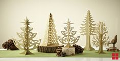 These mini glitter holiday trees will brighten up your decor without leaving behind a glittery mess.