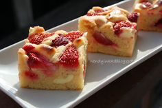 Table for 2.... or more: Red Berries Tray Bake with Cheesecake Ripple - Berry Week #2