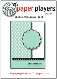 Sketch- this would be perfect for using some of my OA 'flower sacks' embellishments. (and my scallop punches or border strips)