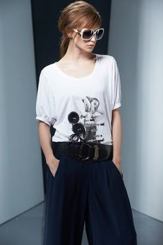 Pair your casual tee with pants to get a smart casual look