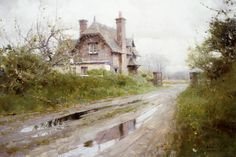 "Richard Schmid ""Blue Cottage (Version Two After Rain)"""