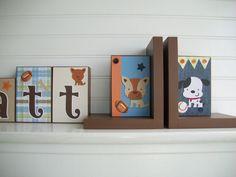 Bookends for Children .Nursery Room Decor . by RessieLillian, $55.00