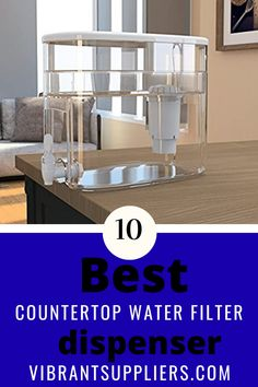 Countertop water filter dispenser help reduce these contaminants right on the kitchen sink top or tabletop. It fits on a counter without connecting it to a tap or faucet in case you need room temperature filtered drinking water. Most of them fit in the refrigerator to provide cold water Brita Water Filter, Sink Water Filter, Countertop Water Filter, Water Filter Pitcher, Water Filters, Best Alkaline Water, Alkaline Water Filter, Brita Stream, Under Counter Water Filter