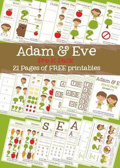 FREE Adam and Eve PreK Pack