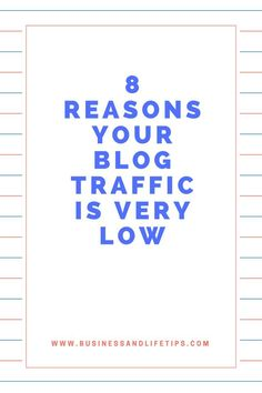 Reasons your blog traffic is low