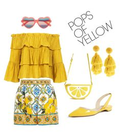 Designer Clothes, Shoes & Bags for Women Cutler And Gross, Paul Andrew, Casual Outfits, Yellow, Polyvore, Skirts, Summer, Forever 21, Stuff To Buy