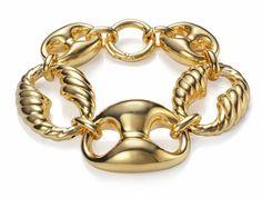 Viceroy gold linked bracelet 80's style