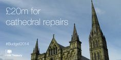 #Budget2014 announces £20m to support cathedral repairs.