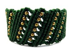 "Macrame bracelet ""Thai Wave 6"" green from Valadda Jewelry by DaWanda.com"
