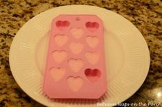 Between Naps on the Porch | Make Heart-Shaped Sugar Cubes for Parties: A Tutorial | http://betweennapsontheporch.net