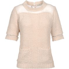 NINA RICCI Short sleeve sweater ($890) ❤ liked on Polyvore