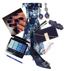 """""""Blue floral dress"""" by ashleyhuang68 ❤ liked on Polyvore featuring Jolie Moi, Roger Vivier, Dorothy Perkins, Arunashi, Alice Cicolini, Christian Dior and Urban Decay"""