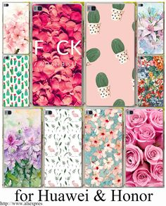 Hard cases voor huawei p8 lite case p9 lite p9 plus p6 7 8 9 g7 honor 6 7 4c 4x cover voor p8 9 lite plus bloemen daisy fruit