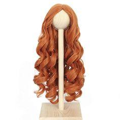Amazon.com : Miss U Hair 8-9 Inch 1/3 BJD Doll Wig MSD DOD Pullip Dollfie Long Carrot Ginger Red Curly Hair Wigs Handmade : Beauty