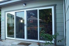 4 Panel Sliding Glass Door - Closed   Yelp Sliding Door Panels, Aluminium Sliding Doors, Sliding Patio Doors, Panel Doors, Windows And Doors, Double Sliding Glass Doors, Patio Windows, Aluminium Windows, Patio Doors For Sale