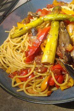 Fire Roasted Vegetable Pasta #freezercooking #vegetarian #oamc