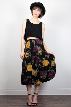 Vintage Midi Skirt 1990s Skirt Soft Grunge by ShopTwitchVintage