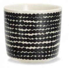 Marimekko Oiva Räsymatto mug cup black white