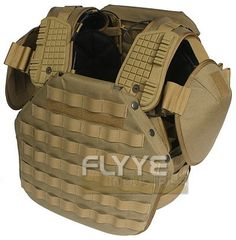 'FLYYE' Armor Chassis + Shoulder Pads + Hydra (KHAKI), Shooter Combat Gear $230