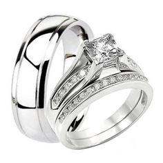 Argolla matrimonial con anillo de compromiso