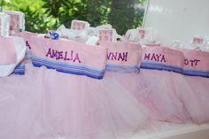 Rapunzel Art Party - Tutu favor bags