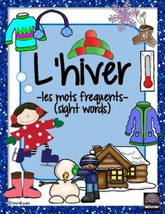 """Use these 25 French flashcards to help your students learn words about """"l'hiver""""! Included are 7 pages that can be used either as posters in the classroom or cut up to be individual word wall flashcards. Use all of the 25 vocabulary cards or choose the ones you wish. French Teaching Resources, Teaching French, School Resources, Learning Resources, Student Learning, Teacher Resources, French Lessons, Spanish Lessons, French Flashcards"""