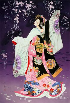 Poster Sagi No Mai - Haruyo Morita Japanese Art, Japanese Embroidery, Japanese Artists, Japanese Culture, Geisha, Art, Ukiyoe, Stretched Canvas Prints, Geisha Art