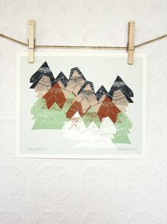 Mountains Print 8 x 10 by leahduncan on Etsy, $20.00