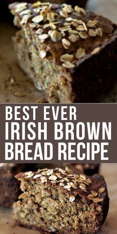 Crispy Chocolate Peanut Butter Crunch Bars with only 5 ingredients! This crunchy vegan treat is made Irish Brown Bread, Irish Bread, Irish Cake, Easy Irish Recipes, Scottish Recipes, Irish Desserts, Asian Desserts, Bagels, Scones