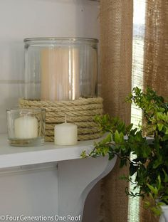 diy candle holder - on my to do list!