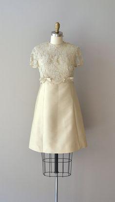 1960s dress / lace 60s dress / Candela lace dress