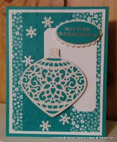 Stamping Serenity: Delicate Ornaments for Mojo Monday 425