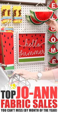 You might love to DIY, but the bottom line is that if you can't save money on your projects, it's a lot harder to justify the expense. Use our Jo-Ann's sale schedule to find out when to stock up on. Homemade Crafts, Diy Crafts, Sewing Crafts, Do It Yourself Organization, Easter Fabric, Shopping Hacks, Store Hacks, Outdoor Halloween, Months In A Year