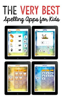 Looking for the best spelling apps for your beginning speller? They're great beginning spelling apps for kids in kindergarten through third grade. Older, struggling spellers would benefit too! Spelling For Kids, Spelling Games, Spelling Activities, Spelling Practice, Spelling Homework, Spelling Ideas, Spelling Worksheets, Sight Word Practice, Learning Apps