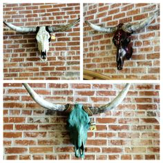Custom Cow Skulls...made by the owner of Rustic Kuts Furniture, Western Decor and Boutique.