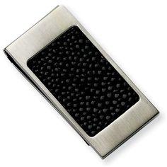 5065788f880d Stainless Steel Brushed Black Stingray Money Clip · Men NecklaceNflCufflinks Silver ...