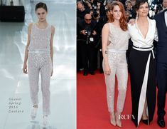 Kristen Stewart In Chanel Couture -  'Clouds Of Sils Maria' Cannes Film Festival Premiere