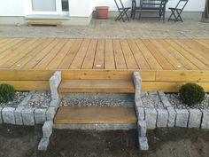 bildergebnis für kombinierte holz-stein-terrasse   garten ideen, Gartenschlauch