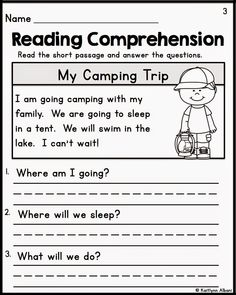 Kindergarten Reading Comprehension Worksheets. There are 18 sight ...