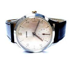 Vintage Reloj Suizo CYMA Classic Hombres 38mm Caja por shopvintage1