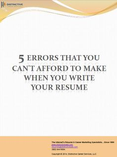 One page or two? Or maybe even three? An objective statement or not? 10 years? Or 15? Or 20? These are questions that everyone faces when it comes time to write a resume. What is proper and preferred? The confusion is compounded by the many pervasive resume writing myths out there.This guide from a professional resume writer will help you avoid those myths when it is time to write your resume.