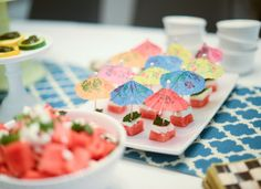 Mini Watermelon, Feta and Mint Skewers - Be Well With Arielle Watermelon And Feta, Cooking 101, Skewers, Appetizers For Party, Bbq, Presentation, Mint, Wellness, Events