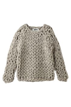 Thick and chunky sweater.