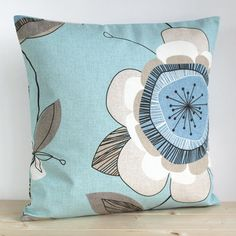 Duck Egg Blue Cushion Cover 16 Inch Pillow Sham Duck by CoupleHome, $13.50