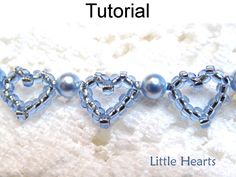 Beading Pattern Heart Bracelet Beading by SimpleBeadPatterns