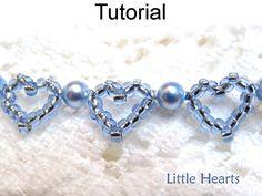 Rebordear patrón Tutorial pulsera corazón por SimpleBeadPatterns